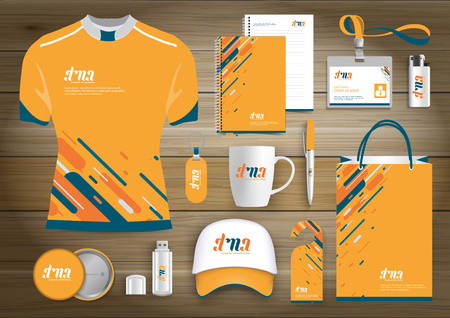 Gift Items business corporate identity Stock Illustratie