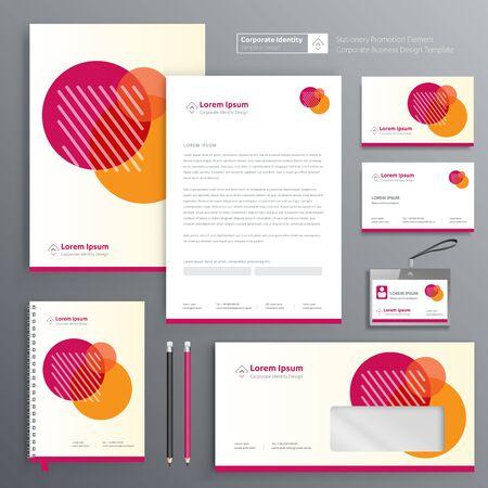 Corporate Business Identity Template-Design Vektor abstrakte Briefpapier, Geschenkartikel Farbe Werbeartikel Souvenirs. Link-Digital-Technologie-Set,