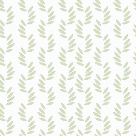 Blumenbeschaffenheit. Grüne Blätter auf weißem Hintergrund. Vektorgrafik