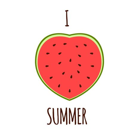 implies: Vector illustration. I love the summer. Illustration