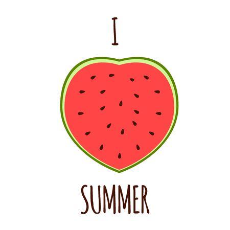 implies: Vector illustration. I love the summer. Illustration