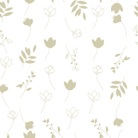 plain backgrounds: Vector illustration. Background of grass and flowers. Illustration