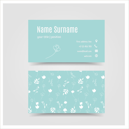 surname: Vector illustration. The business card template. Illustration