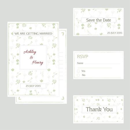 bilateral: Vector illustration. A wedding invitation.