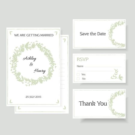 surname:  A wedding invitation. Illustration