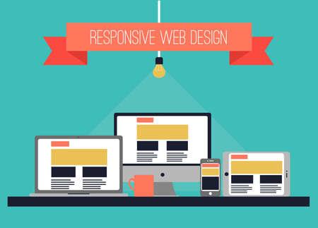 web site design: Vector illustration. Web design