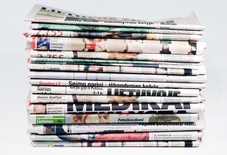 newspaper stack: newspaper stack Stock Photo