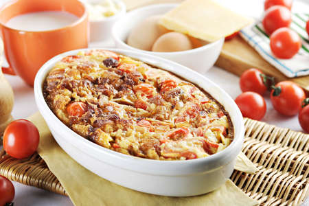 chese: tomato meat and chese bake
