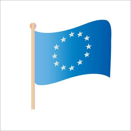 strasbourg: European Union vector flags Illustration