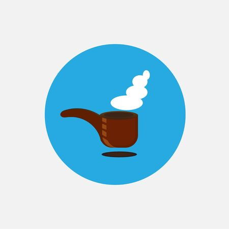 smokers: Icon smoking pipe Illustration