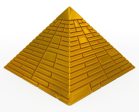 Pyramide d'or Banque d'images - 17319272