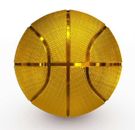 basketball golden photo