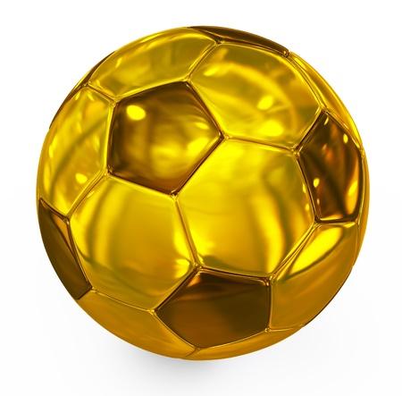 football golden Stock Photo