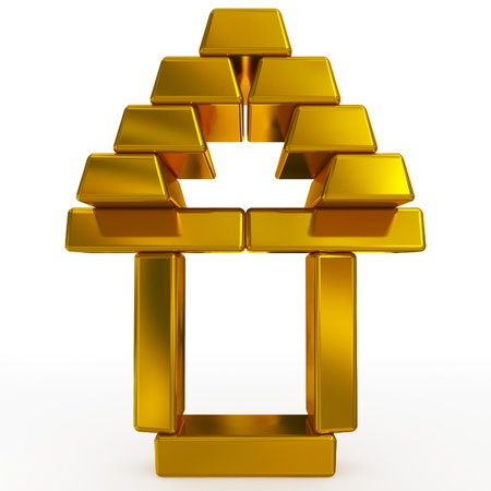 gold bars structure Stock Photo - 17231588