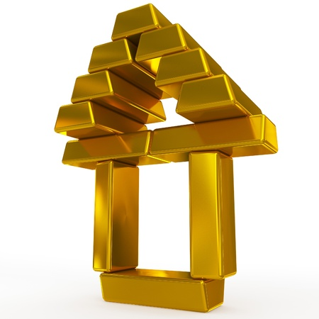 gold bars structure Stock Photo
