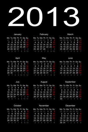 calendar 2013 Stock Vector - 17284804