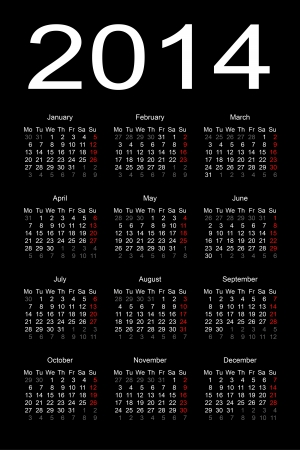 calendar 2014 向量圖像