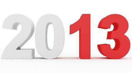 Année 2013 se démarquer Banque d'images - 17315645