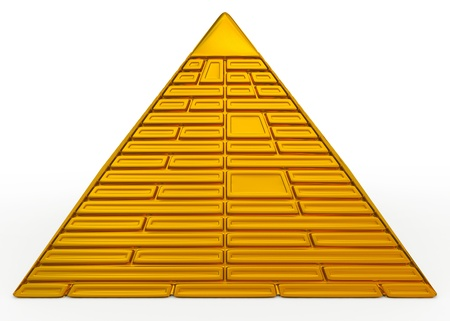 proportion: pyramid golden Stock Photo