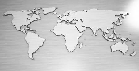 세계지도, 금속 스톡 콘텐츠