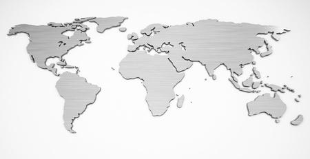 world map metal Stock fotó - 17774942