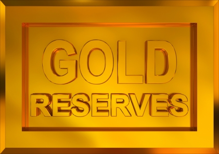 gold reserves Stock Photo