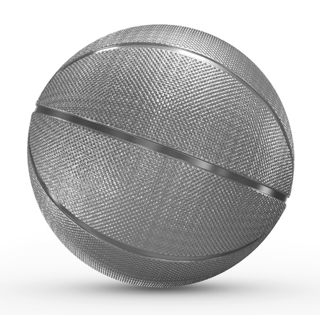 basketball metal photo