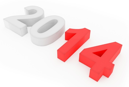 year 2014 count Stock Photo