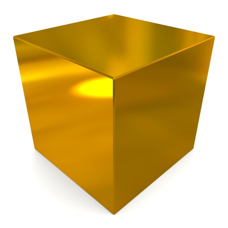 cube 3d golden photo