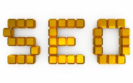 seo optimization: seo optimization 3d Stock Photo