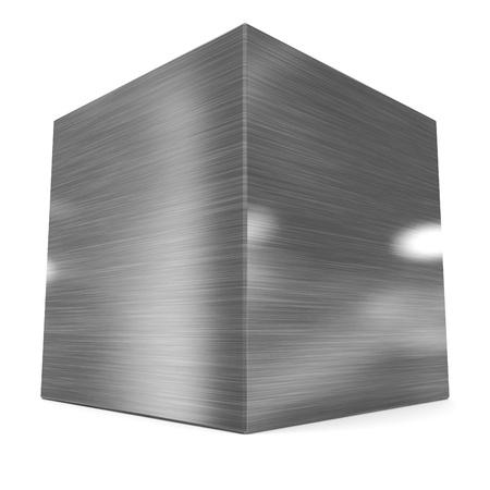 큐브 3d 금속
