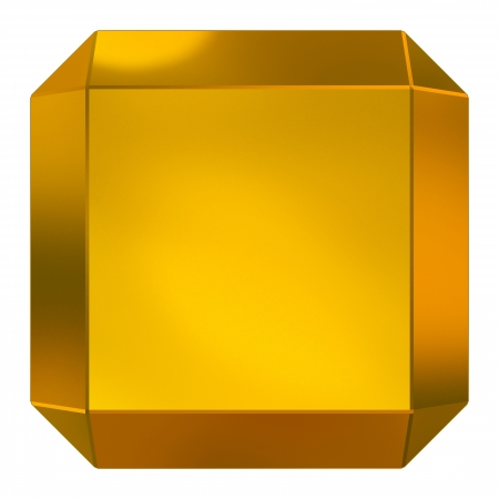 cube golden photo