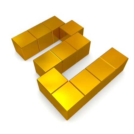 number 2 cubic golden photo