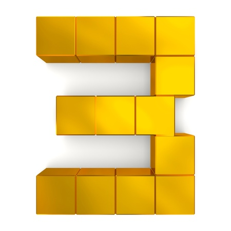 number 3 cubic golden