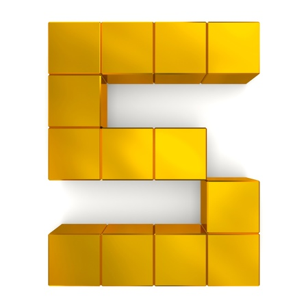 number 5 cubic golden photo