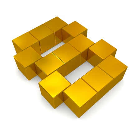 number 8 cubic golden
