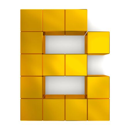 letter B cubic golden photo