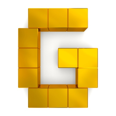 letter G cubic golden photo