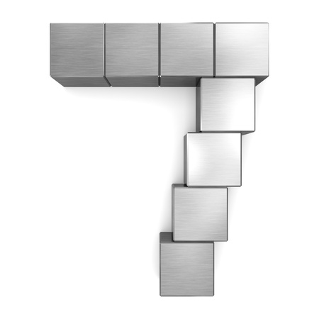 number 7 cubic metal