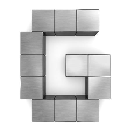 letter G cubic metal photo