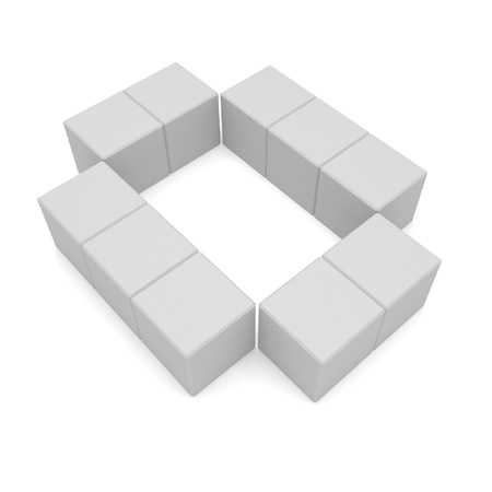 number 0 cubic white photo