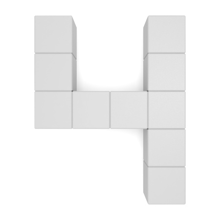 number 4 cubic white photo