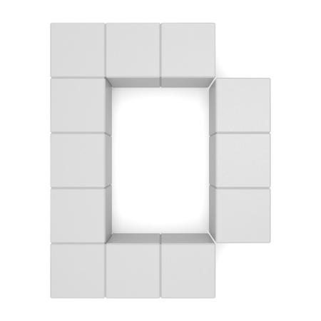 letter D cubic white photo