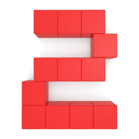 number 2 cubic red photo