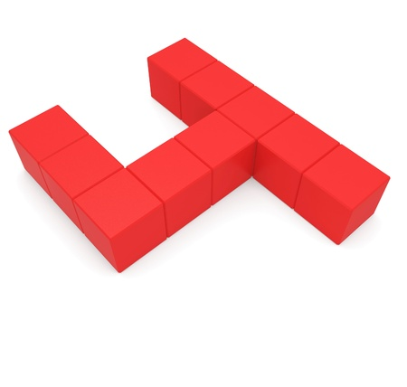number 4 cubic red photo