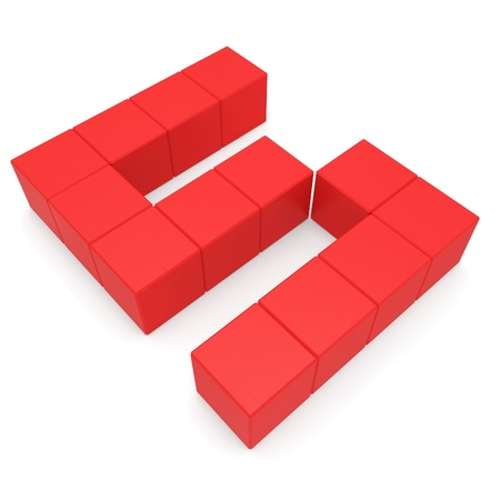 number 5 cubic red photo