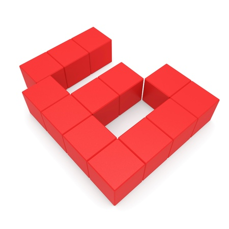 number 6 cubic red photo