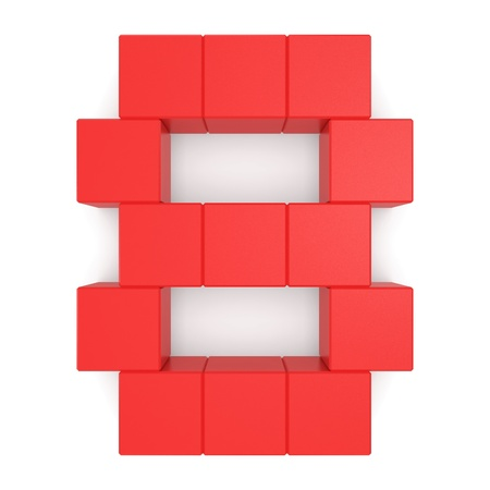 number 8 cubic red photo