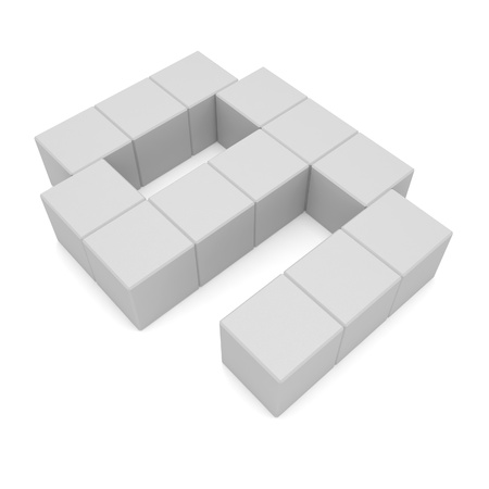 number 9 cubic white photo