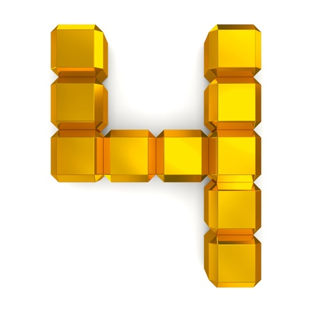 number 4 cubic golden